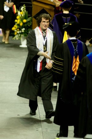 NKU psychology graduate Alex Weiglein at graduation