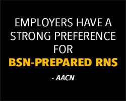 Healthcare employers have a strong preference for BSN nurses